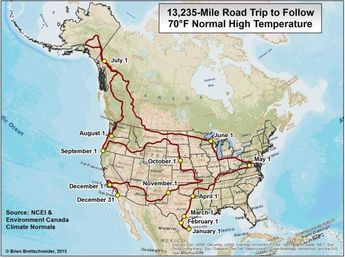 A Year Long Road Trip For People Who Want 70 Degree Weather Everyday