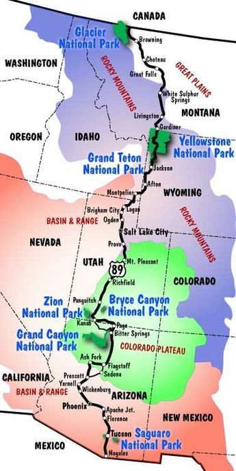 US Route 89-Border to Border Road Trip on The West's Most Western Highway by Eva0707