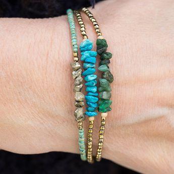 Turquoise Bracelet, Beaded Bracelet, gemstone Bracelet, Gold Bracelet, Hematite Bracelet, Stacking Bracelet, December Birthstone Jew