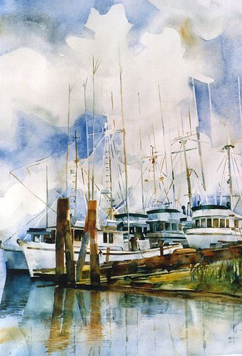 Watercolor Original - Queensborough Quintet