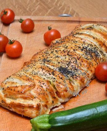Feuilleté tressé tomate courgette jambon cru - Test&Co by Vanish