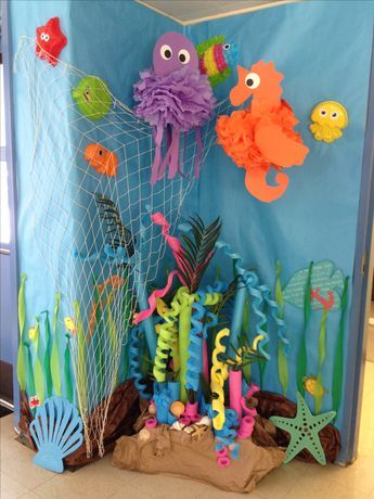 Under the sea decorations ideas, pool noodle coral reef