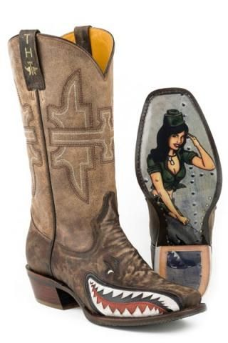 5b7f0828e5f Men s Cowboy Boots Brown Tin Haul Boots Sharky With Bomb Sole