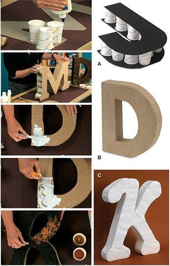 Lettres déco fabriquées en carton! Voici 15 idées