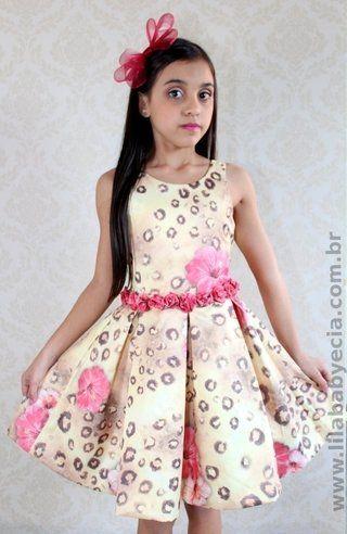 7d56c7fa50 Vestido Infantil Diforini Moda Infanto Juvenil 010766