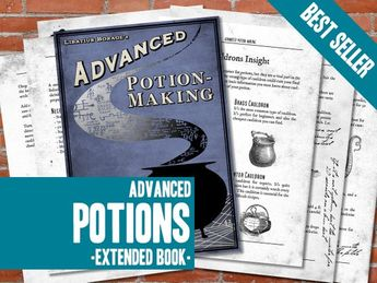 image regarding Advanced Potion Making Printable named Highly developed Potion Producing Ebook Internet pages
