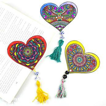 Printable Valentine's Bookmark Designs