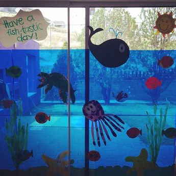 I love this idea as decoration for an ocean theme kids party. My kids would love this.
