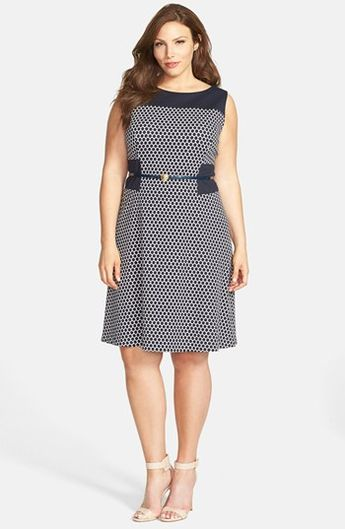 7d6f8a8a10822 Anne Klein Pattern Ponte Fit   Flare Dress (Plus Size) available at   Nordstrom