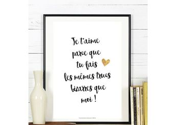 Valentine's Day Quotes : Déclarer votre amour avec des mots doux... Affiche Citation - Collection 'D