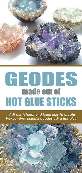 Geodes Made From AdTech® Hot Glue Sticks