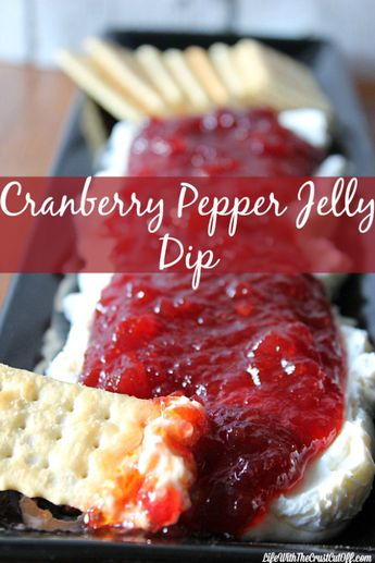 Cranberry Pepper Jelly Dip. Yum!