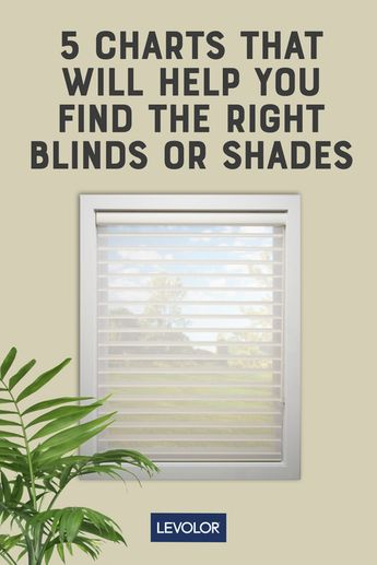 5 Charts That Will Help You Find The Right Blinds Or Shades