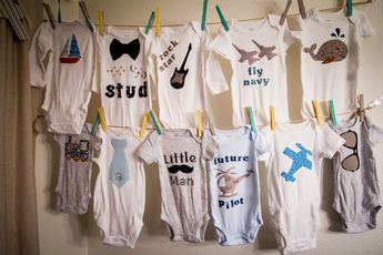"""Baby Outfit Decorating Party - DIY Baby Shower- """"The BOY Set of Designs"""" PDF Download - Applique Designs"""