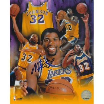 3a1129667 Athlon Ctbl-014463 Magic Johnson Signed Los Angeles Lakers Photo Collage -  8 x 10