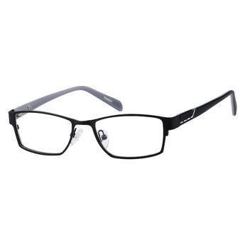 925f6282eadd 764821 Stainless Steel Full-Rim Frame with Acetate Temples