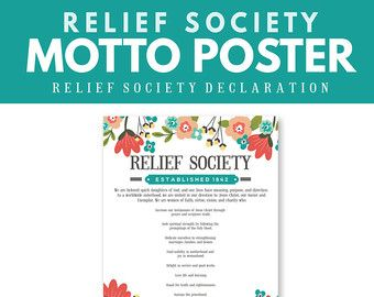 graphic about Relief Society Declaration Printable named This PRINTABLE reduction culture declaration bookmark is perfe