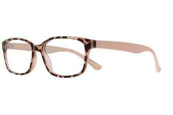 0008847b340 Zenni Womens Vintage Rectangle Prescription Eyeglasses Tortoiseshell  Bendable Plastic 206225
