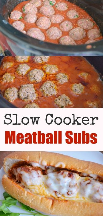 Slow Cooker Meatball Subs