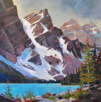 Moraine Lake Angles Canadian painter Randy Hayashi