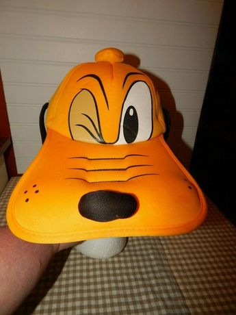 f481fb31053 Disney Parks Pluto Hat With Ears Cap Adult Size Cosplay Plush Dog Face  Yellow  WaltDisneyWorld