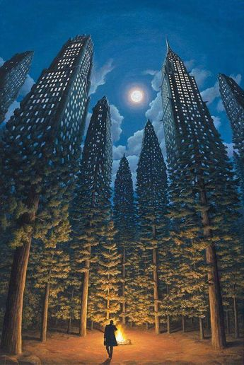 Surreal paintings by Canadian artist Rob Gonsalves