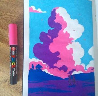 Super Painting Art Landscape Sky 28 Ideas #painting