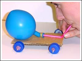 Balloon-powered car - Balloons - Activities - Questacon Science Squad - Sydney - On Tour: Programs - Questacon