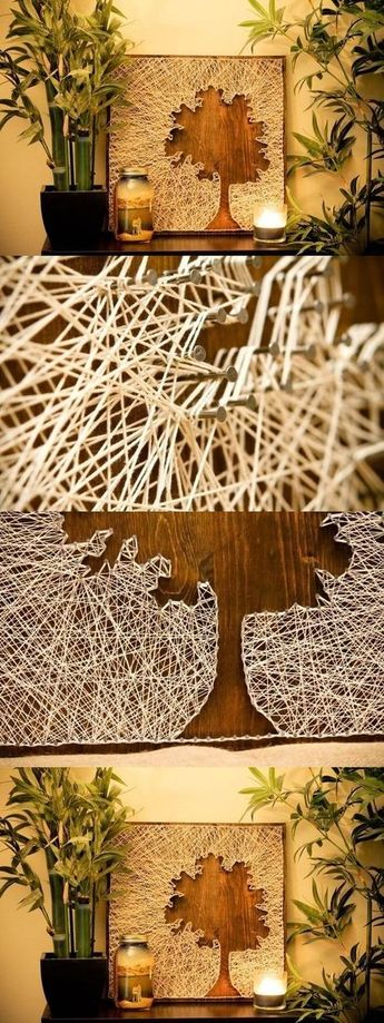 DIY Thread and Nails Panel DIY Projects / UsefulDIY.com