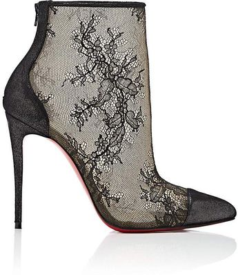 ea65e5ddc58 Christian Louboutin Women s Gipsybootie Lace Ankle Booties - Black Lacy Ankle  Boots