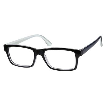 bf07c4745b37 Zenni Rectangle Prescription Eyeglasses Black Plastic 244821