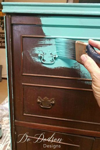 Forget Paint - Try Copper Leaf Finish On Your Furniture.