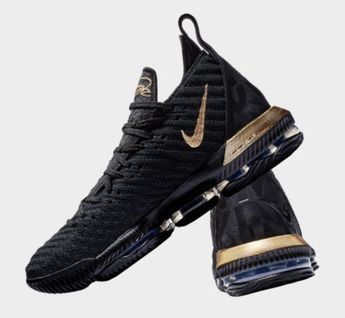 Nike LeBron 16 King Black Gold Red James Trainers Men's Basketball Shoes NIKE013786