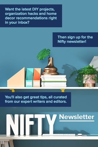 Can't get enough of DIY projects and life hacks? Sign up for the Nifty newsletter today!
