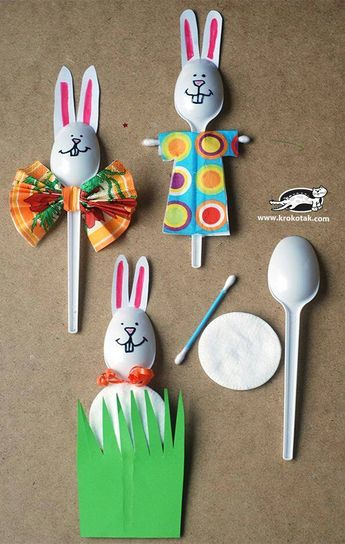 Easter Bunny Spoon Craft