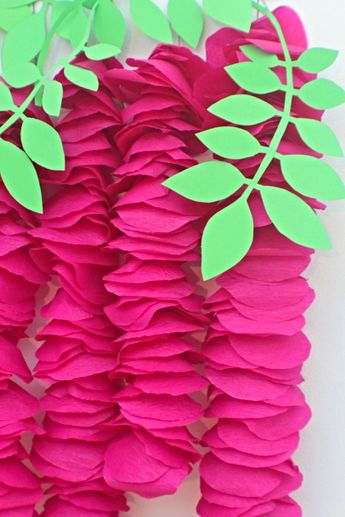 Artificial Wisteria DIY, Colorful Wall Decor With Crepe Paper