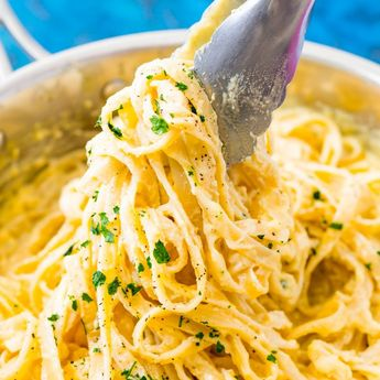 This is the Best Alfredo Sauce Recipe! It's a homemade copycat version of the famous Princess Cruises recipe made with heavy cream, butter, Parmesan cheese, and a secret ingredient that makes this simple sauce super rich and creamy! It only takes 10 minutes to make