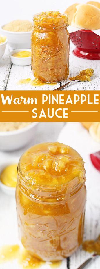 Warm Pineapple Sauce
