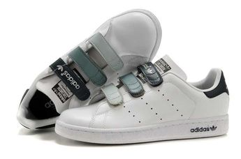 Adidas Womens Stan Smith Gradient Buckle White Shoes