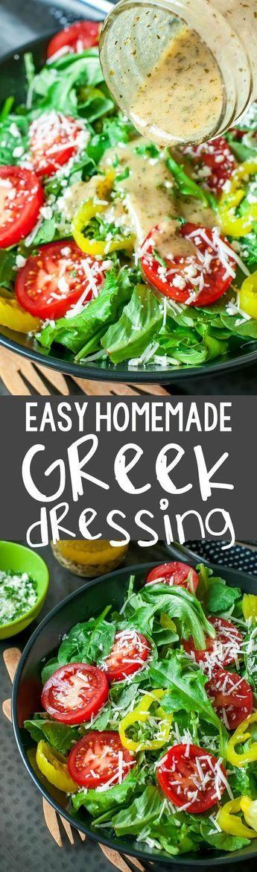 Easy Homemade Greek Dressing