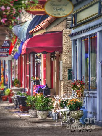 """Farnsworth Ave is Bordentown, NJ's """"Main St."""" with quaint shops, cafes and restaurants. I can picture a hot yoga studio sign right on that red overhang."""