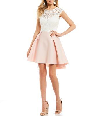 9eb0b7ae8a Shop for B. Darlin Lace Bodice High-Low Dress at Dillards.com.