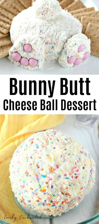 Bunny Butt Cheese Ball Easter Dessert