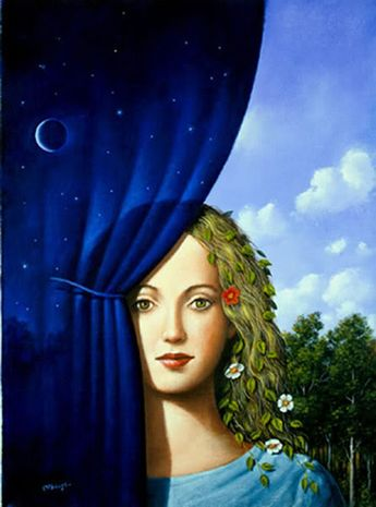 """""""Our emotions are only ''incidents in the effort to keep day and night together.""""  T.S. Eliot  - art by Rafał Olbiński"""