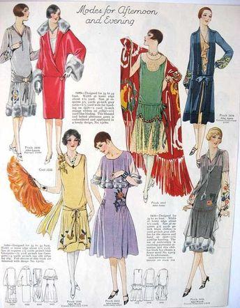 kittyinva: Kittyinva: 1926 c. Modes for afternoon and evening. (Art Deco)
