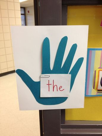High five the sight word on your way out the door. Via Red Words sight word learning.