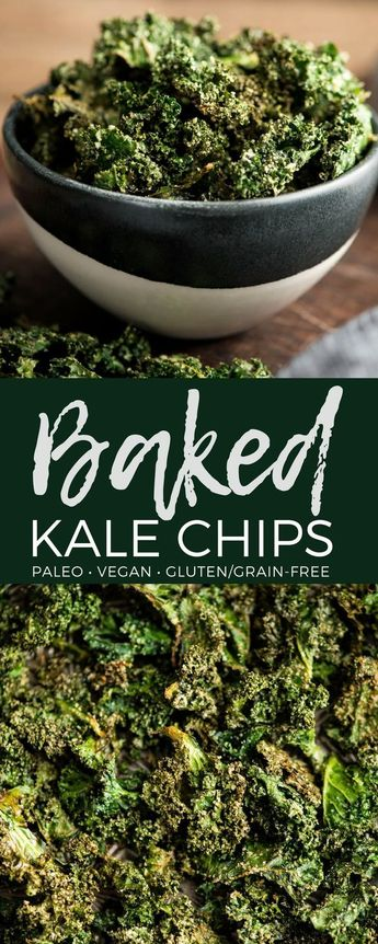 This recipe for Baked Kale Chips is seriously the best! This delicious, healthy, kid-friendly snack is made with only 5 ingredients and is a fantastic way to sneak some greens into your day! #kalechips #kale #baked #glutenfree #grainfree #dairyfree #paleo #vegan #sugarfree #snack #kidfriendly via @joyfoodsunshine