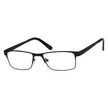 adaa391fe75b Zenni Mens Rectangle Prescription Eyeglasses Black Stainless Steel 162021