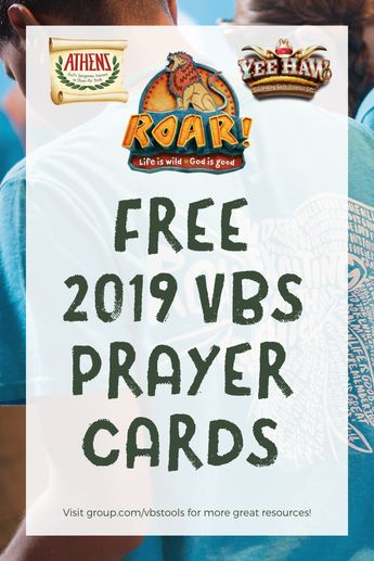 FREE Downloadable 2019 VBS Prayer Cards