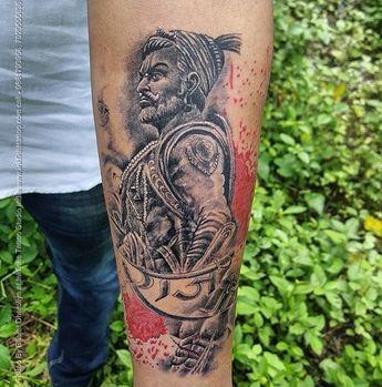 768411e8fb378 Shivaji Maharaj Tattoo By Inkfinite Tattoo Studio Located In Nashik, India  #nashiktattoo #tattoo